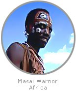 photo of a Masai warrior, Africa